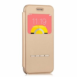 Devia Devia Goud TPU & Kunststof Window Viewer Flip Cover Hoesje iPhone 6 / 6S