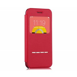 Devia Devia Rood TPU & Kunststof Window Viewer Flip Cover Hoesje iPhone 6 / 6S