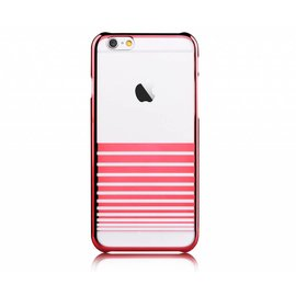 Devia Devia Passion Rood Transparant Met Streepjes PC Hard Cover Melody iPhone 6 / 6S