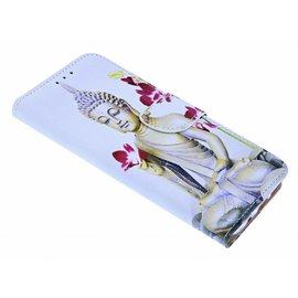 Merkloos Boeddha Bloem Booktype / Portemonnee TPU Lederen Hoesje Samsung Galaxy S8 Plus