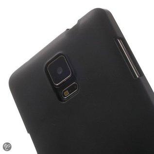 Merkloos Samsung Galaxy Note 4 - Back Case Hoesje Siliconen Zwart