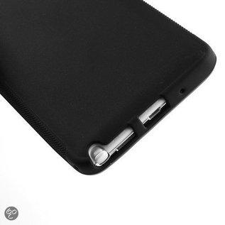 Merkloos Samsung Galaxy Note 3 - Back Case Hoesje Siliconen Zwart'