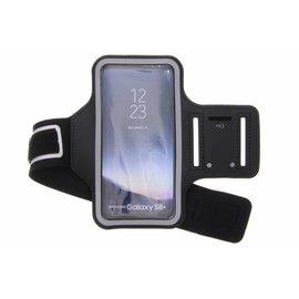 Merkloos Universele Zwart Sportarmband met Sleuterhouder voor de Samsung Galaxy S9 Plus / S8 Plus / A8 Plus (2018) / S7 Edge