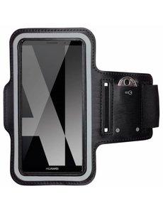 Merkloos Universele Zwart Sportarmband met Sleuterhouder Huawei P Smart/ Y7 (2018)/ Mate 10 Lite/ Y7