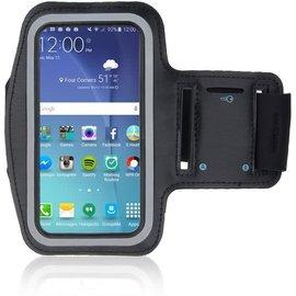 Merkloos Universele Zwart Sportarmband met Sleuterhouder Samsung Galaxy A8 (2018) / A3 (2017) / J5 (2017) / J3 (2017)