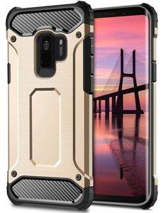 Merkloos Samsung Galaxy S9 Goud Heavy Duty Protection Hoesje