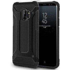 Merkloos Samsung Galaxy S9 Zwart Heavy Duty Protection Hoesje