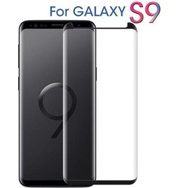 Merkloos Samsung Galaxy S9 Zwart Premium Curved 3D Tempered Glass