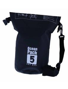 Nillikin Waterdichte Ocean Pack Tas 5 Liter Zwart