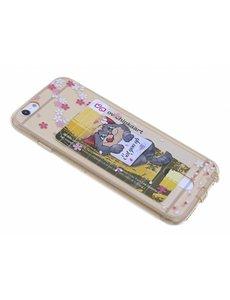 OU case Kat & Bloemen Goud TPU backcover iPhone 6 / 6S