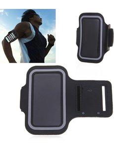 Merkloos Universele Zwart Sportarmband met Sleuterhouder Huawei P20 / P20 Lite