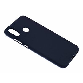 Merkloos Huawei P20 Lite Case Zwart TPU Hoesje Matte Finish Slim Profile