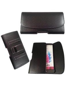 Merkloos LG G3 Riem holster case hoesje zwart