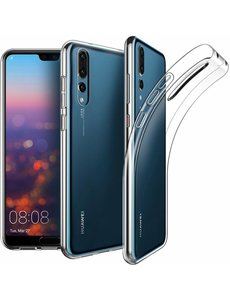 Merkloos Huawei P20 Pro silicone hoesje - case - transparant