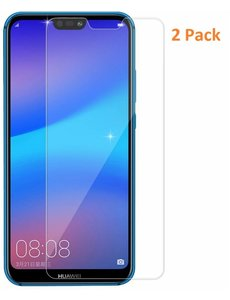 Merkloos 2 Pack - Huawei P20 Screenprotector / GlazenTempered Glass