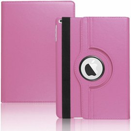 Ntech Apple iPad 9.7 (2018) Hoes Case Cover 360° draaibaar Multi stand Licht Roze