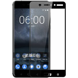 Merkloos Nokia 6 full coverage Curved Edge tempered glass