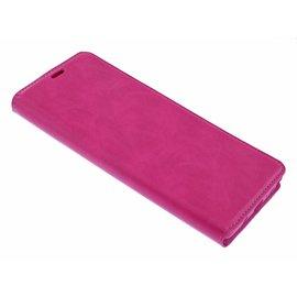 Merkloos Luxe Roze TPU / PU Leder Flip Cover met Magneetsluiting Huawei P Smart