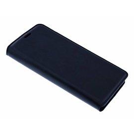 Merkloos Luxe Zwart TPU / PU Leder Flip Cover met Magneetsluiting Huawei P Smart