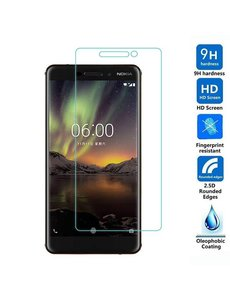 Merkloos Nokia 6 (2018) Tempered Glass / Glazen Screenprotector