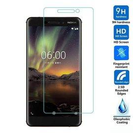 Merkloos Nokia 6 (2018) 2X / 2Pack Tempered Glass / Glazen Screenprotector