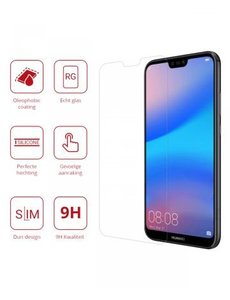 Merkloos Huawei P20 Lite Tempered Glass / Beschermglas Screenprotector