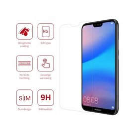 Merkloos Huawei P20 Lite Tempered Glass / Beschermglas Screen Protector