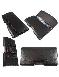 Merkloos Samsung Galaxy Note 3 Riem holster case hoesje zwart