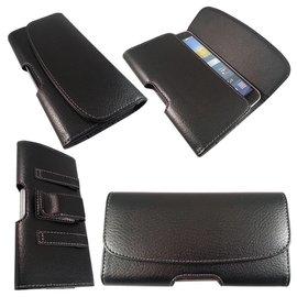 Merkloos Galaxy Note 3 Riem holster case hoesje zwart