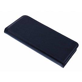 Merkloos Samsung Galaxy S9 Plus Luxe TPU / PU Leder Flip Cover met Pasjes houder & Magneetsluiting Zwart