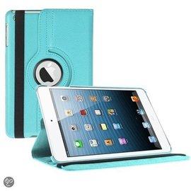 Merkloos iPad Mini 3 hoesje Cover Multi-stand Case 360 graden draaibare Beschermhoes licht blauw