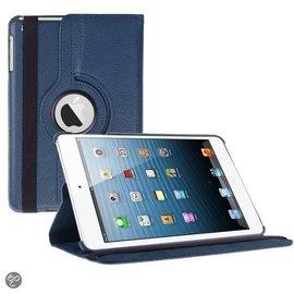 Merkloos iPad Mini 3 hoesje Cover Multi-stand Case 360 graden draaibare Beschermhoes donker blauw