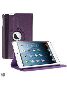 Merkloos iPad Mini 3 hoesje Multi-stand Case 360 graden draaibare Beschermhoes paars