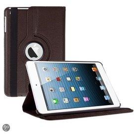 Merkloos iPad Mini 3 hoesje Cover Multi-stand Case 360 graden draaibare Beschermhoes bruin