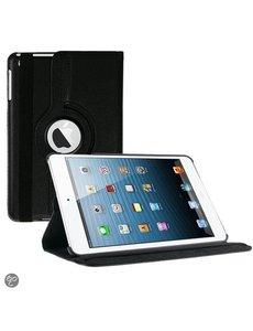 Merkloos iPad Mini 1 / 2 / 3 hoesje Multi-stand Case 360 graden draaibare Beschermhoes zwart