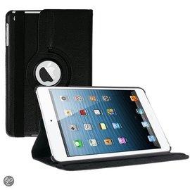 Merkloos iPad Mini 1 / 2 / 3 hoesje Cover Multi-stand Case 360 graden draaibare Beschermhoes zwart