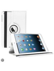 Merkloos iPad Mini 3 hoesje Multi-stand Case 360 graden draaibare Beschermhoes Wit