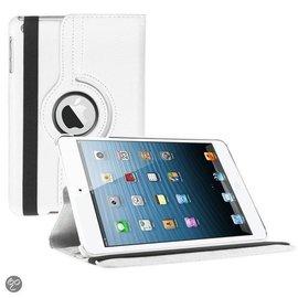 Merkloos iPad Mini 3 hoesje Cover Multi-stand Case 360 graden draaibare Beschermhoes Wit