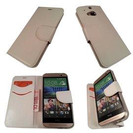 Merkloos HTC One M8 Boek Silicone Case Hoesje Wit