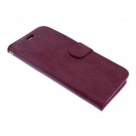 Merkloos Samsung Galaxy J7(2017) Luxe Portemonnee met Pasjes houder & Magneetsluiting Bordeaux