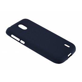 Merkloos Nokia 1 Case Zwart TPU Hoesje Matte Finish Slim Profile