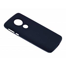 Merkloos Motorola Moto E5 Case Zwart TPU Hoesje Matte Finish Slim Profile