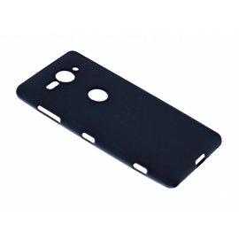 Merkloos Sony Xperia XZ2 Compact Case Zwart TPU Hoesje Matte Finish Slim Profile