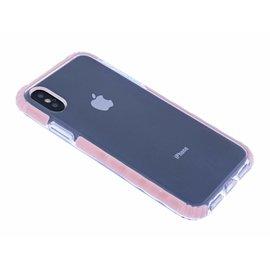 Ntech Ntech iPhone X / Xs Premium Transparent & Anti Shock TPU Hoesje Roze