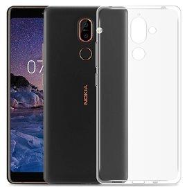 Merkloos Nokia 7 Plus Transparant Soft TPU Hoesje