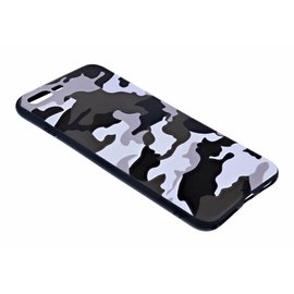 Ntech Ntech - iPhone 8 Plus / 7 Plus Luxe Camouflage Soft TPU Back Cover Snow