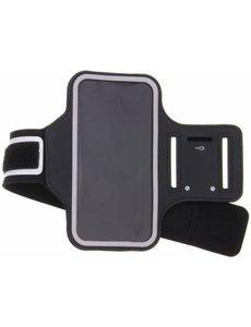 Merkloos Zwart Sportarmband voor de Motorola Moto G6 Plus