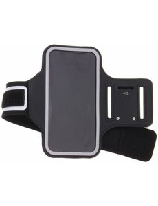 Merkloos Zwart Sportarmband Motorola Moto E5 Plus