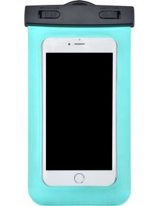 Merkloos Neon Multi Functional Waterdichte hoesje Pouch Met Audio Jack Motorola Moto E5 Plus Groen