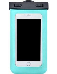 Merkloos Neon Multi Functional Waterdichte hoesje Pouch Met Audio Jack Motorola Moto E5 Play Groen